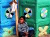 Indiánsky chlapec pred kostolom, San Juan Chamula